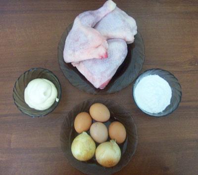 котлеты из рубленного мяса курицы с ветчиной